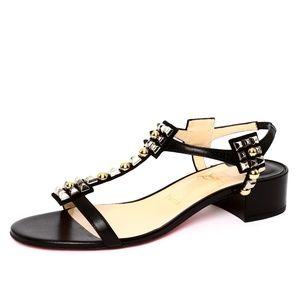 Christian Louboutin Kaleidra Black T-Strap Sandal